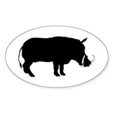 Warthog Oval Decal