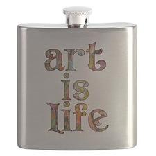 Art is Life Flask