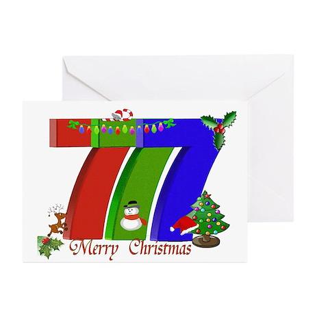 Slot Player Christmas 777 Greeting Cards Pk of 20