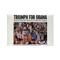 Triumph for Obama Rectangle Magnet (10 pack)