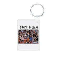 Triumph for Obama Keychains