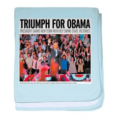 Triumph for Obama baby blanket