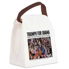 Triumph for Obama Canvas Lunch Bag