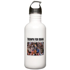Triumph for Obama Water Bottle