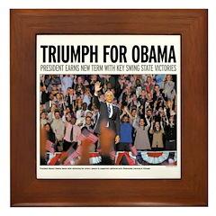 Triumph for Obama Framed Tile