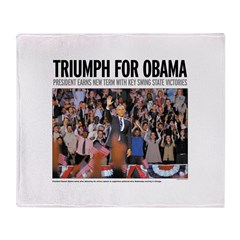 Triumph for Obama Throw Blanket