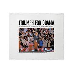Triumph for Obama Throw Blanket