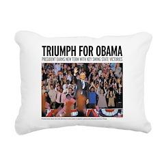 Triumph for Obama Rectangular Canvas Pillow