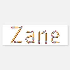 Zane Pencils Bumper Bumper Bumper Sticker