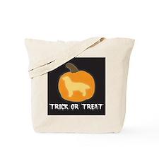 """Golden Retriever """"Trick or Treat"""" Tote Bag"""