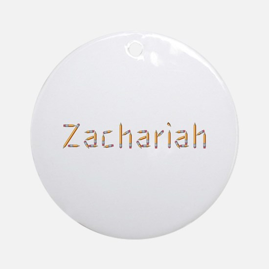 Zachariah Pencils Round Ornament