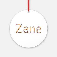 Zane Pencils Round Ornament