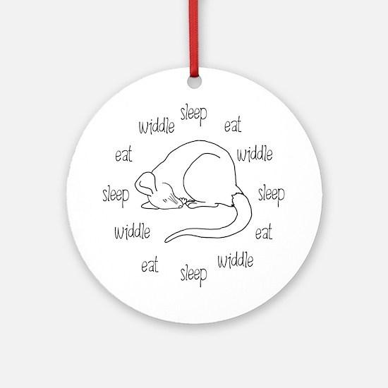 Sleep, Eat, Widdle Ornament (Round)