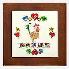 Rooster Lover Framed Tile