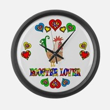 Rooster Lover Large Wall Clock