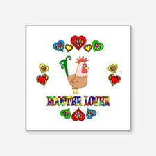 """Rooster Lover Square Sticker 3"""" x 3"""""""