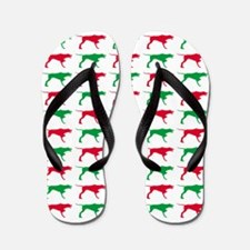 Pointer Christmas or Holiday Silhouettes Flip Flop