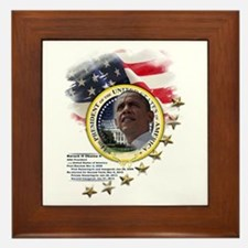 44th President: Framed Tile