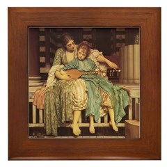 The Music Lesson Framed Tile