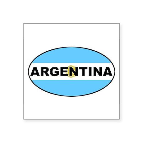 Argentina National Flag Oval Sticker