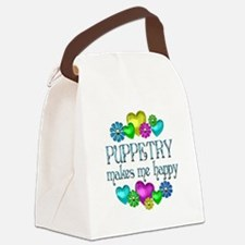 Cute Puppetry Canvas Lunch Bag