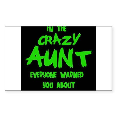 CRAZY AUNT Sticker (Rectangle)