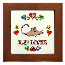 Rat Lover Framed Tile