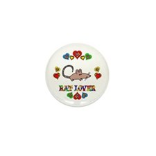 Rat Lover Mini Button (10 pack)
