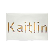 Kaitlin Pencils Rectangle Magnet