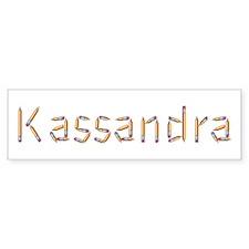 Kassandra Pencils Bumper Car Sticker