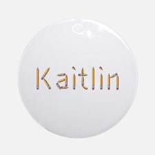 Kaitlin Pencils Round Ornament