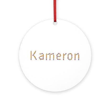 Kameron Pencils Round Ornament