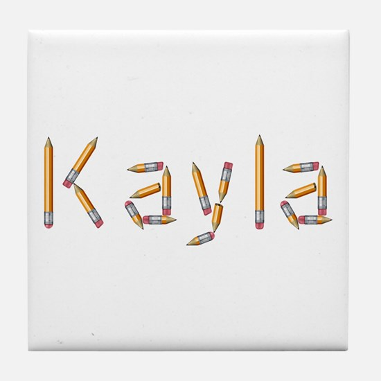 Kayla Pencils Tile Coaster