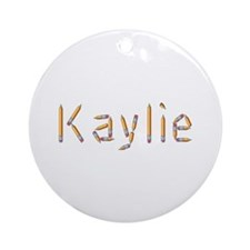 Kaylie Pencils Round Ornament