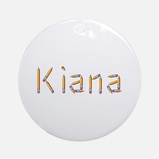 Kiana Pencils Round Ornament