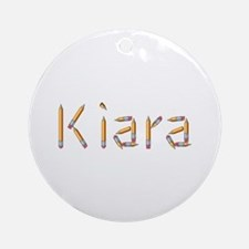Kiara Pencils Round Ornament