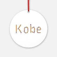 Kobe Pencils Round Ornament