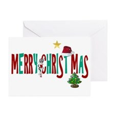 Merry Christmas Showgirl Greeting Cards (Pk of 20)