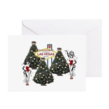 Las Vegas Showgirls Xmas Greeting Cards (Pk of 20)