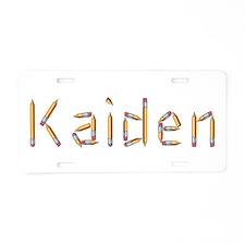 Kaiden Pencils Aluminum License Plate