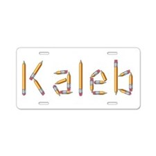 Kaleb Pencils Aluminum License Plate