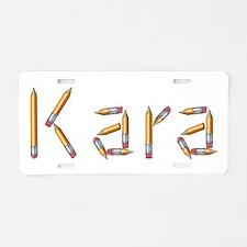 Kara Pencils Aluminum License Plate