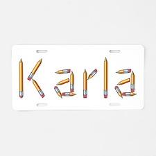 Karla Pencils Aluminum License Plate