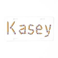 Kasey Pencils Aluminum License Plate