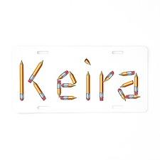 Keira Pencils Aluminum License Plate