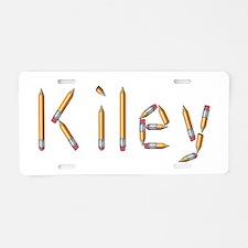 Kiley Pencils Aluminum License Plate