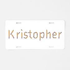 Kristopher Pencils Aluminum License Plate