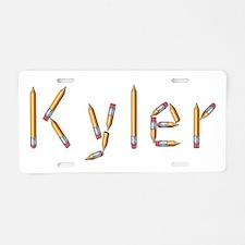 Kyler Pencils Aluminum License Plate