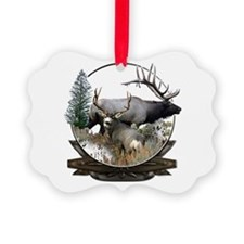 Big Game elk and deer Picture Ornament