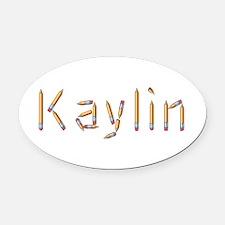 Kaylin Pencils Oval Car Magnet